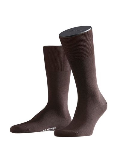 FALKE Airport sukat, dark brown melange